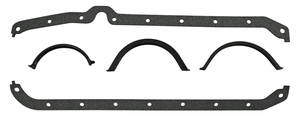 1964-77 Chevelle Oil Pan Gasket Small Block, Crush-Proof (5-Piece)