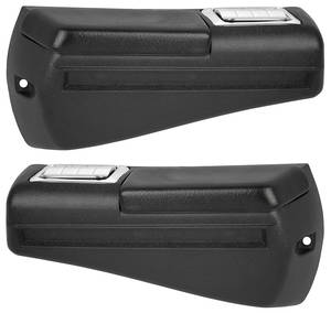 1968-69 Tempest Armrest Bases, Plastic Injection-Molded Rear Coupe Black Only