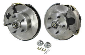 1964-72 Chevelle Brake Wheel Kit, Front Stock Spindle Disc, by CPP
