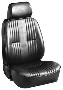 1961-73 LeMans Bucket Seats, Custom Lowback w/Headrest