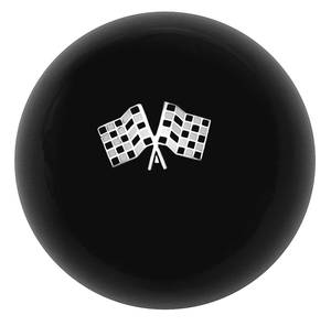 1959-77 Grand Prix Shifter Knob, Custom Checkered Crossed Flags