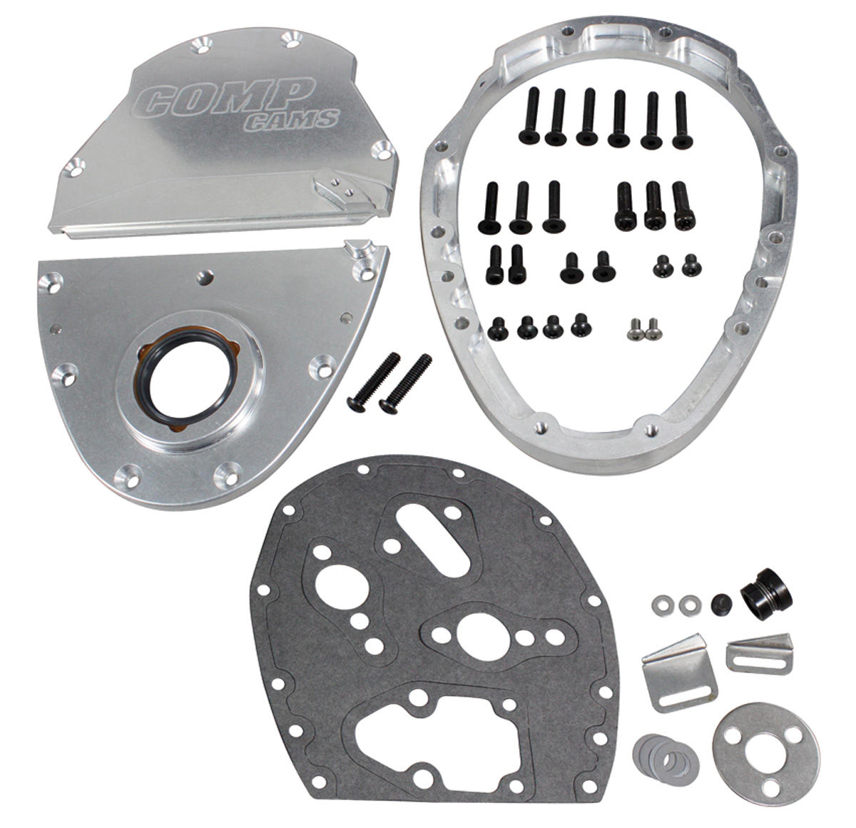 Photo of Timing Cover, Three-Piece Aluminum Small Block