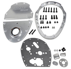 1964-77 Chevelle Timing Cover, Three-Piece Aluminum Small Block