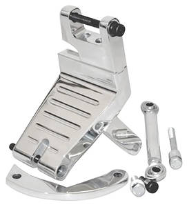 1970-77 Monte Carlo Outboard Mount Correct-Align Bracket Kit (Small-Block, Long - Alternator Passenger Mount)