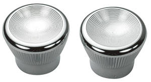 1967-68 GTO Vent Pull Knobs (Two-Piece) Chrome