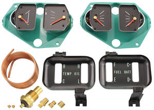 Chevelle Gauge Conversion Kit, 1966-67 Standard Oil Pressure w/Ammeter