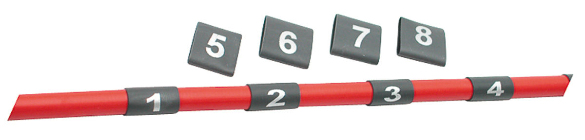 Photo of Wire Shrink Sleeve with Numbers
