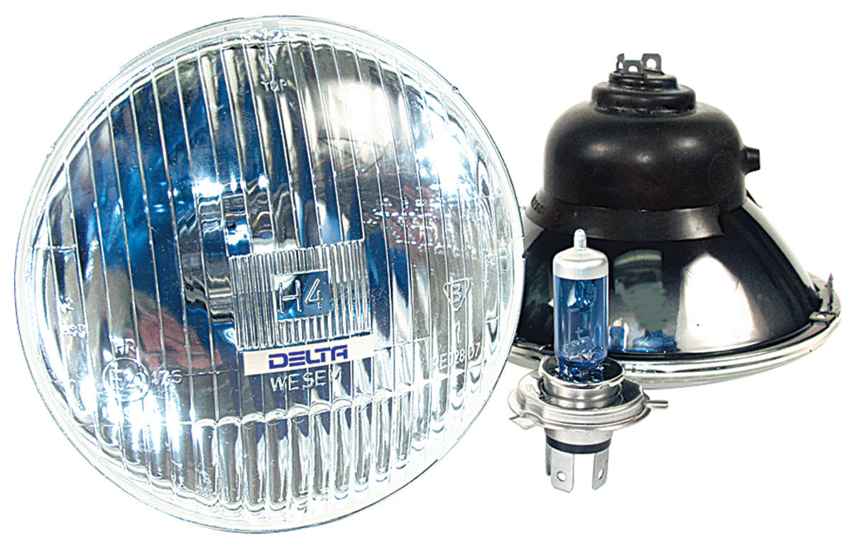 "Photo of Headlights, High-Performance Grand Prix high, 5-3/4"" w/Xenon bulb"