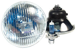 "1961-1972 Cutlass Headlights, High-Performance Halogen High/Low, 5-3/4"", by Delta Tech"