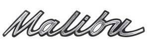 "Dash Emblem, 1967 ""Malibu"" Script Malibu & El Camino"