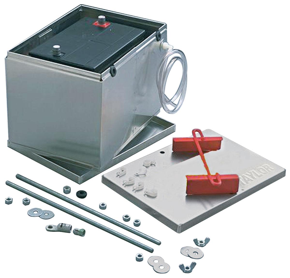 "Photo of Battery Box Kit, Aluminum 13-1/2"" X 9-1/2"" X 10"" Box W/O Logo w/o cables"