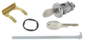 1965-1965 Grand Prix Trunk Lock Non-Gm Round Key