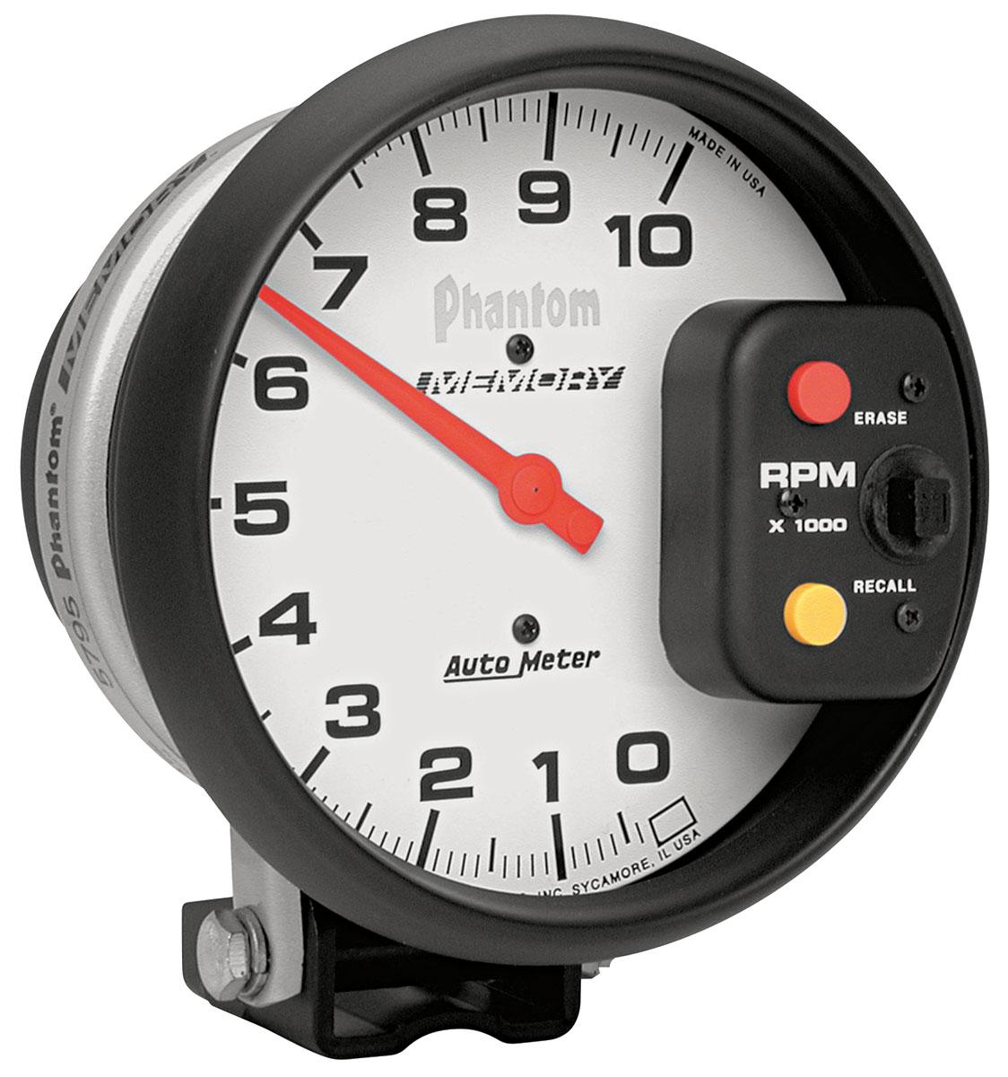 "Photo of Tachometer, Phantom 5"" Memory 10,000 rpm"
