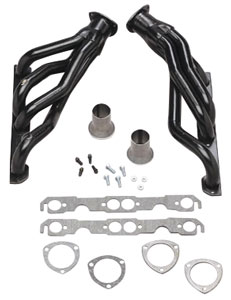 "1964-77 Chevelle Headers, High-Performance 283-400/Power Steering, Automatic, 1-5/8"" Tubes, 3"" Collector Black (1, 6, 15, 26, 45, 103, 121)"