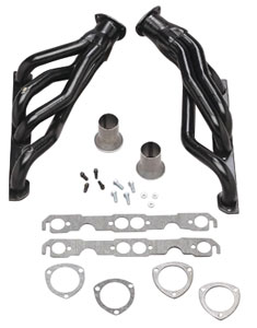 "1970-1977 Monte Carlo Headers, High-Performance 396-502/Ac, Power Steering, Automatic/Manual (Floor Only), 1-3/4"" Tubes, 3"" Collector with Black Coating (1, 6, 15, 20, 45, 208), by Hedman Hedders"