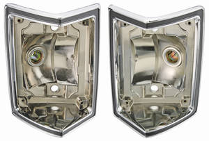 1968-69 Tail Lamp Housings; El Camino & Wagon, by RESTOPARTS