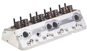 1978-88 Malibu Cylinder Head, Performer RPM Small-Block Angled Plugs, 64cc