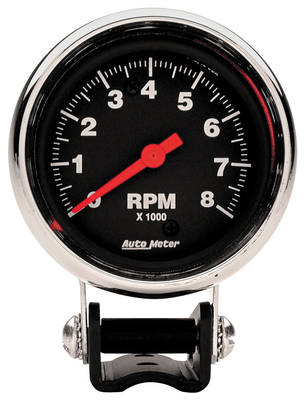 "Tachometer, 2-5/8"" Mini Chrome, by Autometer"