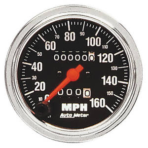 "1938-93 60 Special Speedometer, Traditional Chrome Series 3-3/8"" (160 MPH)"