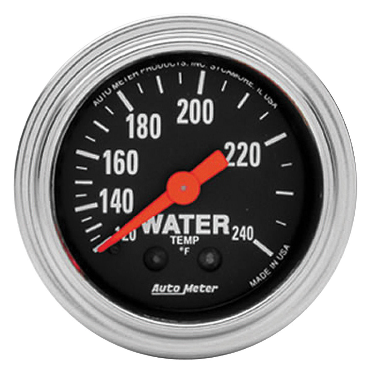 """Photo of Gauge, 2-1/16"""" Chrome Series - Mechanical (Water Temperature - 120°-240° F) with 12-Foot Tubing"""