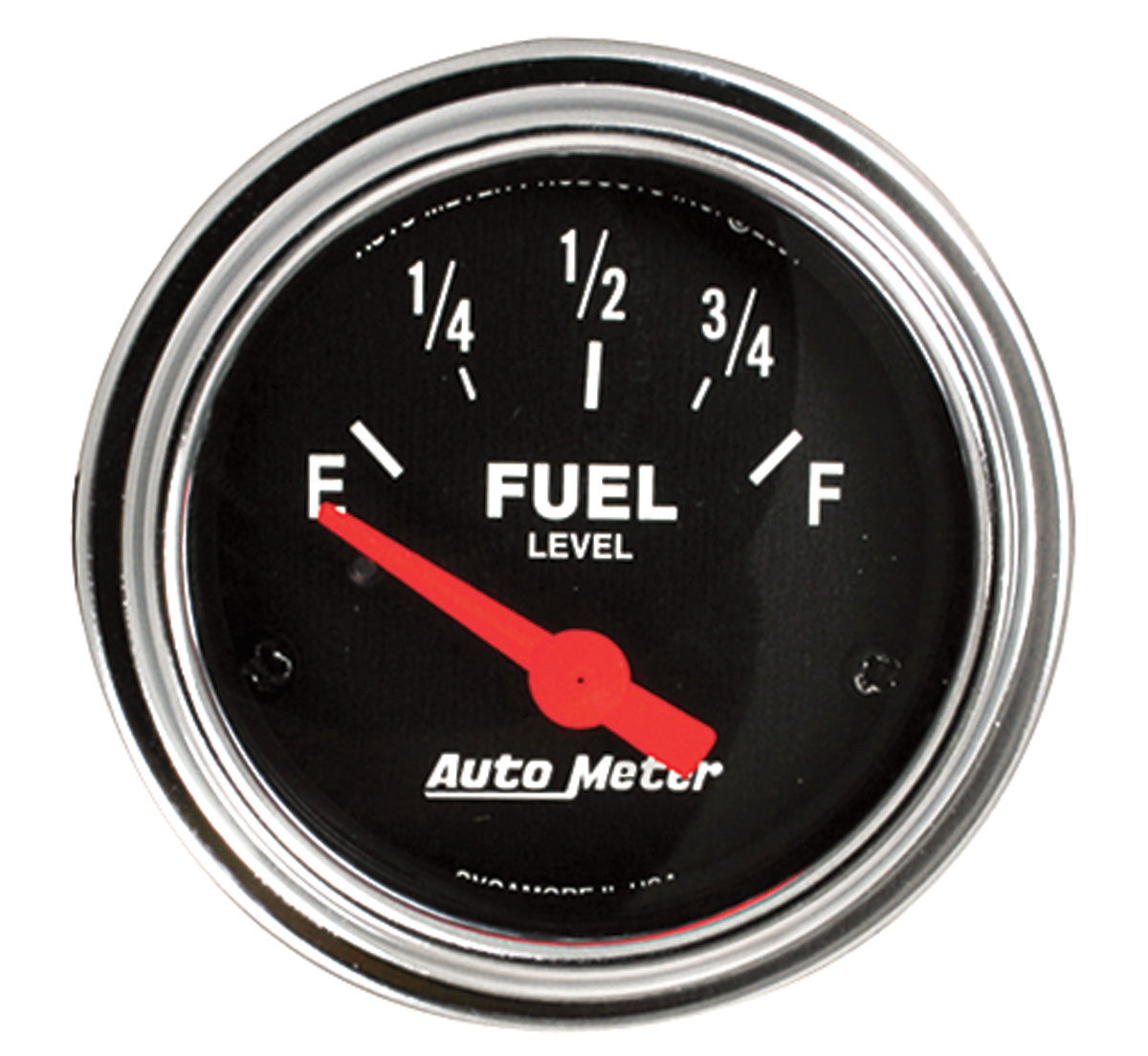 "Photo of Gauge, 2-1/16"" Chrome Series Electrical fuel level (0-30)"