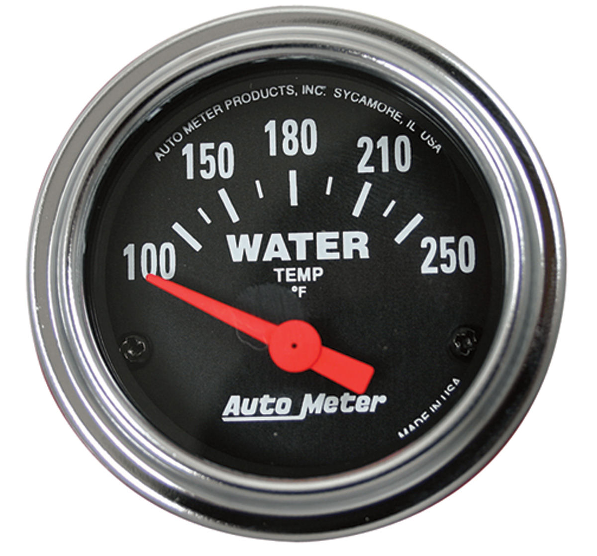 "Photo of Gauge, 2-1/16"" Chrome Series - Electrical (Water Temperature - 100°-250° F)"