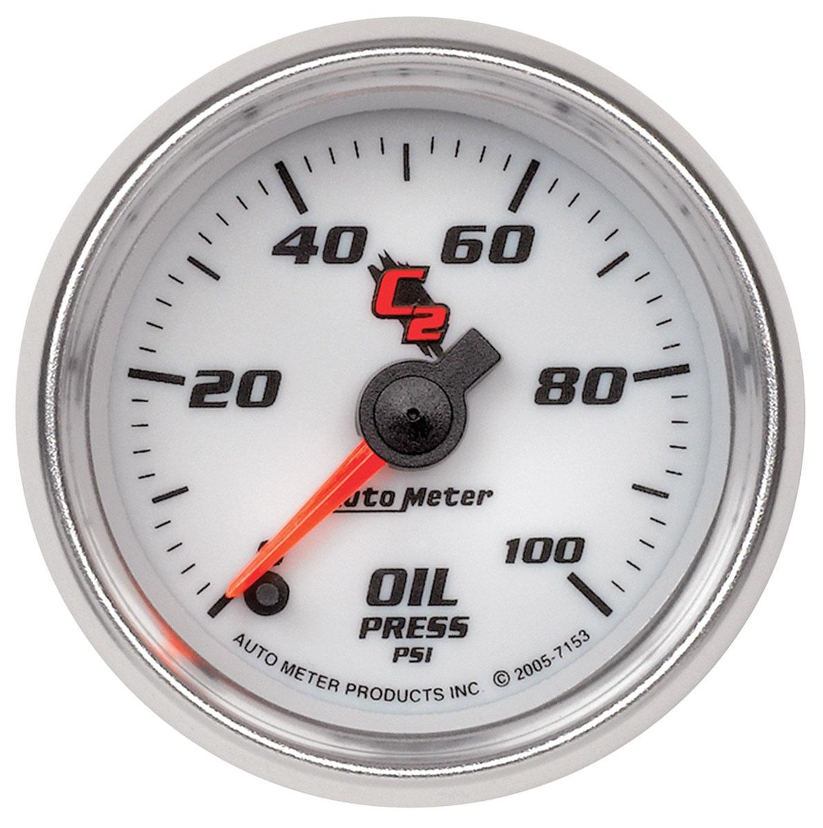 """Photo of Gauges & Tachometer (C2) 2-1/16"""" oil pressure (0-100 PSI)"""