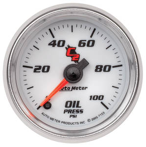 "1964-73 GTO Gauges & Tachometers; C2 2-1/16"" Oil Pressure (0-100 Psi)"