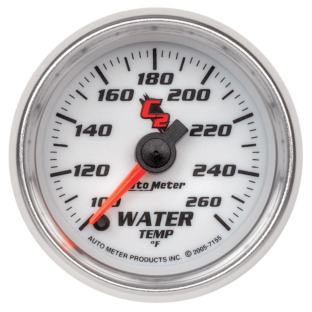 """Photo of Gauges & Tachometer (C2) 2-1/16"""" water temperature (100-260F)"""