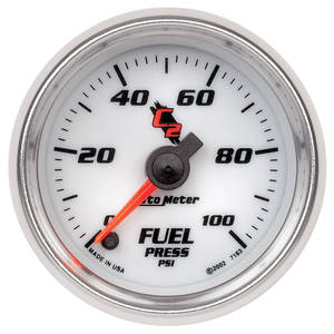 "1964-73 GTO Gauges & Tachometers; C2 2-1/16"" Fuel Pressure (0-100 Psi), by Autometer"