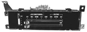 El Camino Heater/Air Conditioning Control Assembly, 1971-72