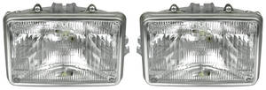 "Headlight Assembly 1982-83 Malibu, 1982-87 El Camino (6-1/2"" Rect.) Outer (Halogen)"