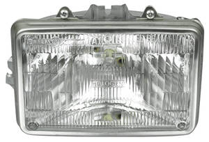 "Headlight Assembly 1982-83 Malibu, 1982-87 El Camino (6-1/2"" Rect.) Inner"