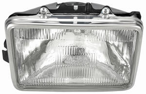 "Headlight Assembly 1982-83 Malibu, 1982-87 El Camino (6-1/2"" Rect.) Inner (Halogen)"