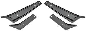 1964-1964 Chevelle Bumper Brackets Front (4-Piece), by RESTOPARTS