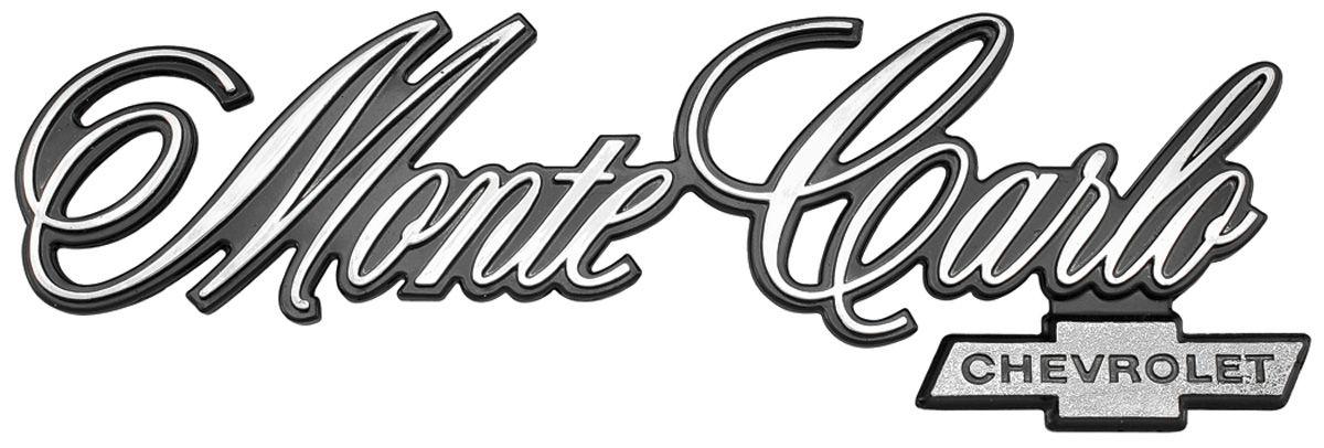 TRIM PARTS Rear Panel Emblem, 1976-77