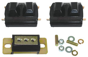 1973-77 Motor/Transmission Mount Combo Kit, Polyurethane Chevelle 250 6-Cyl.