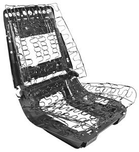 1969-1972 Bonneville Seat Frame Assembly (Bucket Seat), by RESTOPARTS