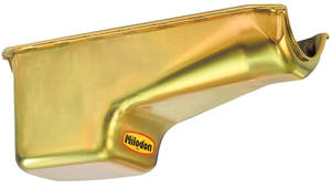 1964-1977 Chevelle Oil Pan, Small-Block Deep Sump LH Dipstick – Gold, by MILODON