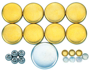 1978-1983 Malibu Freeze Plug Sets, Brass Big Block 396-454, by MILODON