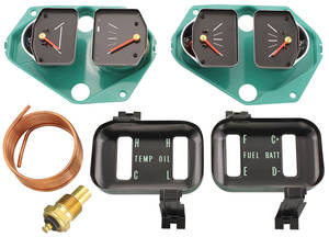 1966-1967 Chevelle Gauge Conversion Kit, 1966-67 Standard Oil Pressure w/Voltmeter