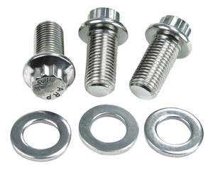 "1978-88 Monte Carlo Pulley Bolts, Lower Stainless - .750"" Underhead Length"