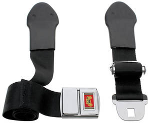 1966 Chevelle Seat Belt, Deluxe-Style Front