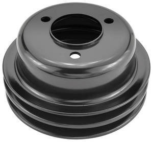 1970-1970 Monte Carlo Crank Pulley, Factory Reproduction (L78/LS6) Dual Belt, Deep Groove