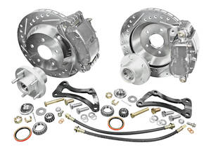 1964-67 El Camino Brake Kits, Front & Rear Big Brake Disc Front/Rear (Red Calipers)