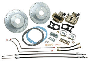 1970-72 Monte Carlo Brake Kit, Big Brake (Disc) Rear (Raw Caliper)