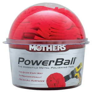 1959-1976 Bonneville PowerBall Polisher & California Gold Metal Polish Polish Ball, by Mothers