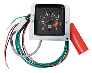 1970-1970 El Camino Tachometer Conversion, Malibu In Dash Green