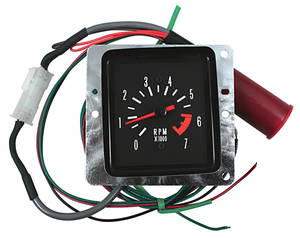 1971-1972 Tachometer Conversion, Malibu In Dash White