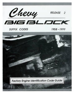 1958-1999 Chevelle Chevrolet Big-Block Suffix Codes